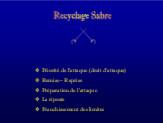 Recyclage Sabre