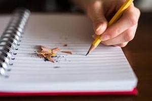 cahier crayon